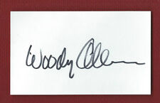 WOODY ALLEN Autograph DIRECTOR-STAR-COMEDIAN BOLD Auto Signed INDEX CARD