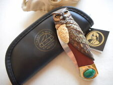 FRANKLIN MINT : GREAT HORNED OWL COLLECTOR KNIFE