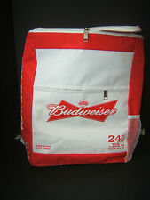 Budweiser Insulated Zippered Cooler Backpack Bag Holds 24 Beer Cans Bud