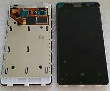LCD display Screen + touchscreen Glass Digitiser + frame Für NOKIA Lumia 800