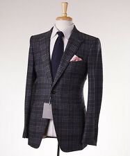 NWT $5700 TOM FORD 'Base V' Gray Plaid Soft Flannel Wool Suit Slim 38 R (Eu48)