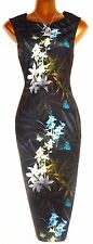 BNWOT Gorgeous TED BAKER Loua Twilight Bodycon Wiggle Midi Dress 1 UK 8 US 4