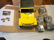 RC 1/10 Rubicon Wrangler 4x4 Short wheel Base Truck (Yellow/Red Body)