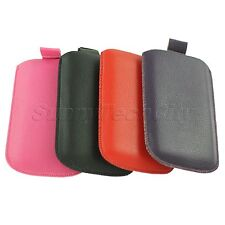 1Pc Colorful PU Leather Phone Pouch Case Cover Bag For Samsung Galaxy S2 i9100