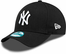 New Era 9FORTY MLB New York Yankees NY Logo Black Curved Peak Hat Baseball Cap
