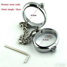 Female Stainless Steel Bondage Hand Cuffs
