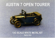 Austin 7 Open tourer sports car kit - white metal model to assemble and paint