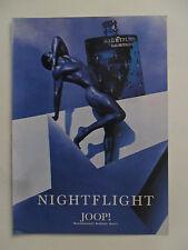 1995 Print Ad Nightflight Joop Bloomingdale Cologne Fragrance ~ Nude Male Model