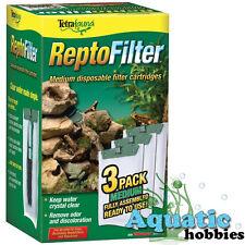 Tetra Fauna Repto Filter Medium 3 PK Cartridge Fully Assembled Cartridges