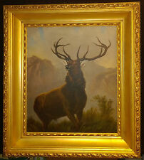 """D E E R -  """"Monarch of the Glen"""" by Edwin H. Landseer, the best copy ever done"""