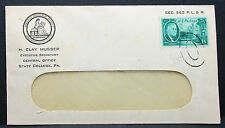 US ADV Cover Musser American Philatelic Society Roosevelt Stamp USA Brief H-7410