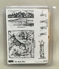 Stampin' Up! The Back Nine 2004 Retired Stamp Set Golf Mounted & CLEAN NICE!!!