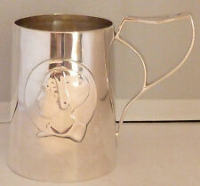 Kate Harris Puritan Maid Art Nouveau William Hutton Solid Silver Mug London 1904