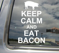 Keep Calm And Eat Bacon - Funny Humor - Car Window Vinyl Decal Sticker 03011