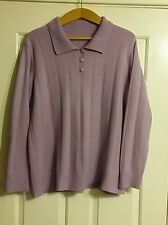 Ladies Daxon Lilac Jumper Size 22/24