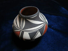"Acoma pueblo pottery small polychromatic signed Marie Miller2 1/2"" high"
