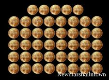 1980 - 1999 P+D Lincoln Mint Set Roll of 45 Coins ~ Includes 1982 Variety of 7