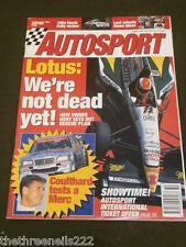 AUTOSPORT - COULTHARD TESTS A MERC - DEC 15 1994