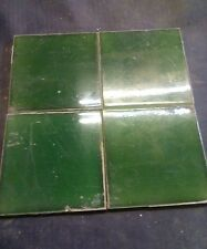 VICTORIAN GREEN FIREPLACE TILE,WALL TILE MANSFIELDS 135 CHURCH GRESLEY