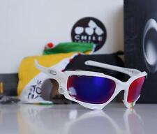 Oakley Racing Jacket Tour De France Sunglasses White/+Red & Black Iridium Vented