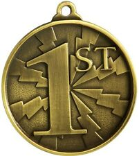 1st Place Medal Gold 3d Effect 50mm Diameter Includes Ribbon and Engraving