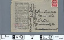 Envelope from the AUSCHWITZ concentration camp 1941
