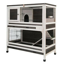 Double Decker Rabbit Hutch Wooden Indoor Guinea Pig House Home 2 Storey NEW