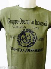 Maglietta Tshirt Marina Militare Arditi Incursori GOI Varignano 1952 Verde FRUIT