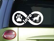 Labrador Retriever Infinity sticker *H416* 4 x 8.5  inch vinyl dog decal
