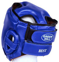 Greenhill Leather Boxing Head Guard Kickboxing Headgear Best Easy Wear Fitting