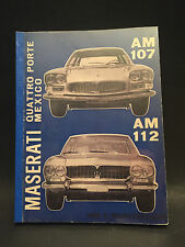 Manuale MASERATI MEXICO & 4 PORTE  AM107 AM112