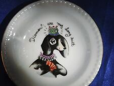 Vintage Whippet Greyhound diva dog w diamond crown long eyelashes playing cards