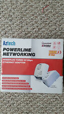 NEW Aztech HL105E Twin Pack Homeplug Turbo 85 Mbps Powerline Adaptor