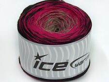 Lot of 2 x 150gr Skeins Ice Yarns CAKES COTTON FINE (50% Cotton) Yarn Black P...