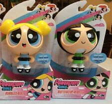 The Powerpuff Girls by Spin Master Action Eyes Dolls - lot of 2 - ea w/stand NEW