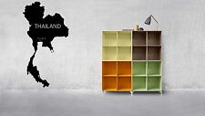 World Map Thailand Planet Silhouette Wall Vinyl Sticker Decal Decor Room F1709