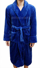 High Quality Men Navy Blue Shawl Collar Velour Plush Thick Bath Robe Spa & Hotel