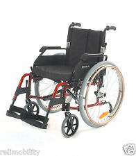 Roma Medical 1500 Lightweight Self Propelling Wheelchair Red