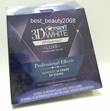 Crest 3D Whitestrips Luxe Professional Effects 20 POUCH 40 STRIPS New