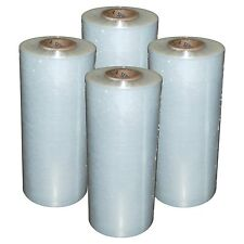"(4) Rolls Hand Stretch Wrap Film Banding 18"" x 1500' 11.5 Micron USA MADE"