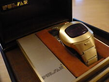 Mens Pulsar LED Time Computer Watch P4 Executive Flickwrist 14K Gold Filled P2P3