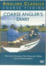 COARSE ANGLER'S DIARY DVD WITH ANDY NICHOLSON - FISHING DVD