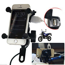 X-Grip Cellphone Mount Universal Motorcycle Mount Cell Phone Holder USB Charger