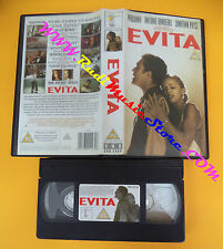 VHS film EVITA Madonna Antonio Banderas ENTERTAINMENT inglese (F110) no dvd