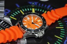 New Deep Blue Daynight Military Ops Orange Automatic Sapphire Crystal Mens Watch