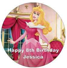 Disney Princess Sleeping Beauty Personalised Cake Topper Edible Wafer Paper 7.5""