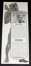 1914 OLD MAGAZINE PRINT AD, HERCULES POWDER CO, ACCURACY IN MANUFACTURING, ART!
