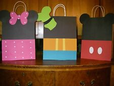 20 PC DISNEY MICKEY MOUSE GOODY GIFT BAGS PARTY FAVORS CANDY TREAT BIRTHDAY BAG