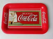 Vintage 1989 Issue  Coca Cola Tin Tray Depicts Ad Sign for Trolley Cars of 1907