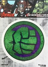 Marvel Avengers Hulk Car Window Decal Sticker Auto - Officially Licenesed Fist